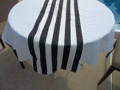 Navy And White Stripe Table Runner Decorating Paint
