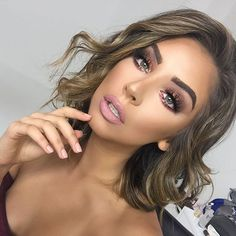 One of my favorite glams I created on the  stunning @nadia_mejia ( Miss California ) wishing her good luck at as she goes to Vegas to prepare for Miss USA ! Used @doseofcolors pigments on her eyes to create this gorgeous glam !  #vegas_nay #huddabeauty #brian_champagne  Using my favorite lashes @lillylashes in style ( Mykonos ) use code ( brittanybear ) for $$ off