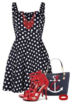Skater Dress by barbarapoole on Polyvore featuring polyvore, fashion, style, Quiz, Wild Diva, Tommy Hilfiger and clothing