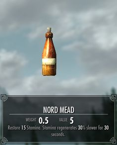 I knew mead was a good recovery drink..