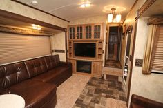 living room of our new RV