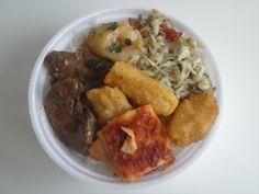 Bom dia Londrina! Hoje teremos: Bife de panela com batata, lasanha, mandioca frita, refogado de repolho, feijão com arroz e salada...