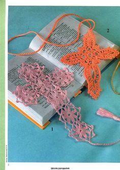christmas ornaments: crocheted crosses , free crochet patterns | make handmade, crochet, craft