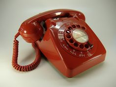 1960's Red 706 British Telephone by Old Telephones, via Flickr