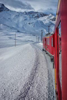 View from Ozpizio Bernina to Pontresina in Switzerland | Flickr - Photo Sharing!  ~Repinned Via Darra Williamson