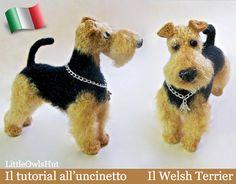 102IT Il tutorial all'uncinetto Il Welsh Terrier. Amigurumi Giocattolo - PDF Di Chirkova Etsy, $7.99