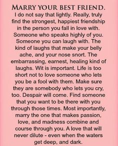 Wedding Quotes And Sayings Vows Future Husband 23 Ideas For 2019 Sex Quotes, Life Quotes, Marry Your Best Friend, Soulmate Love Quotes, Deep Quotes About Love, Wedding Quotes, Wedding Ideas, Trendy Wedding, Happy Friendship
