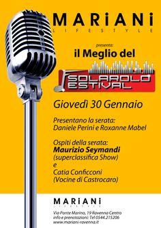 NON MANCARE GIOVEDì 30 GENNAIO. http://www.mariani-ravenna.it/festival-di-solarolo-presso-mariani-lifestyle/