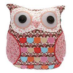 Owl Cushion - Brown