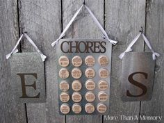 How stinking cute and clever! We may be addi g this to the holsonback home! Custom Chore Chart System: For Two. $42.00, via Etsy.