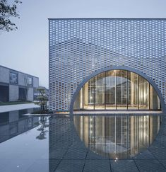 The FengQiao Experience Exhibition Hall / UAD Completed in 2018 in Shaoxing China. Images by Qiang Zhao Song Shan. Brick Architecture, Chinese Architecture, Futuristic Architecture, Architecture Details, Interior Architecture, Cultural Architecture, Sustainable Architecture, Building Facade, Building Skin