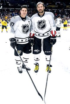 Hockey OTP, they form a heart. Crosby/Ovechkin..All Star game 2017
