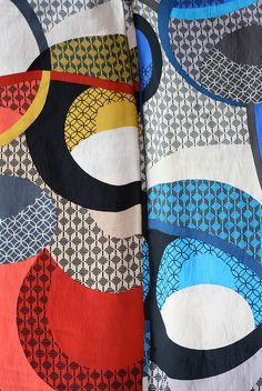 Crazy print fabric in two colourways by The two windmills, via Flickr