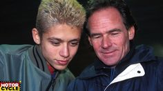 Barry Sheene & (a young) Valentino Rossi  http://www.amcn.com.au/news/1303/gallery-tribute-to-barry-sheene-a-decade-on/image-10