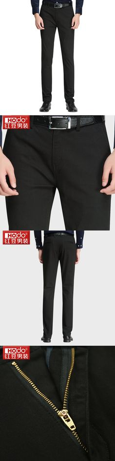 Hodo Pants Men Business Trousers Men's Business Simple Temperament Micro Bullet Men's Slim Pants Pants Man Suits Wedding Slim