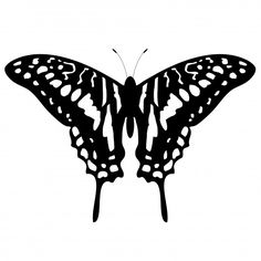 Flying Butterfly Silhouette Clip Art Butterfly tattoo clipart