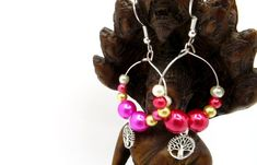 Tree of Life Mismatched Earrings - Beaded Fashion Earrings - Tree of Life Beaded Earrings Handmade Gift Tags, Handmade Items, Tree Of Life Earrings, Earring Tree, Close To My Heart, Gay Pride, Etsy Earrings, Fashion Earrings, Lgbt
