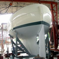 A finished hull of a Hans Christian 33. McC
