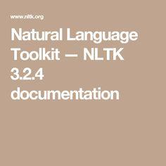 Natural Language Toolkit — NLTK 3.2.4 documentation