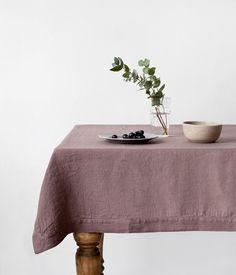 Cendres de Roses Vintage Stone Washed nappe lin par LinenTales