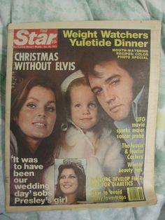 The Star Magazine December 20, 1977, Christmas without Elvis, Elvis Presley, Lisa Marie