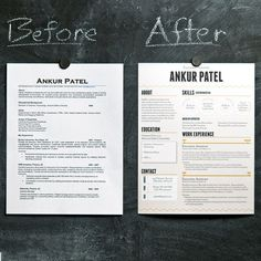 Resume - Gets more attention, never a bad thing. Keep it on one page!