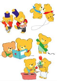 Bear Illustration, Bear Art, Like Animals, Cute Characters, Cute Art, Cute Pictures, Art Drawings, Character Design, Cartoon
