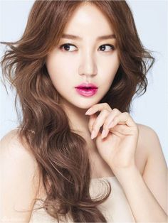 Yoon Eun Hye modeled MAC's new lipstick line for spring, the 'Mineralize Rich Lipstick'. She looks stunning with all three different colors on her lips: hot pink, coral, and orange. Yoon Eun Hye, Cool Haircuts, Hairstyles Haircuts, Korean Hairstyles, Teenage Hairstyles, Layered Hairstyles, Braid Hairstyles, Bob Hairstyle, Wedding Hairstyles