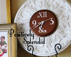 Ceiling Medallion Wall Clock Tutorial | Positively Splendid {Crafts, Sewing, Recipes and Home Decor}