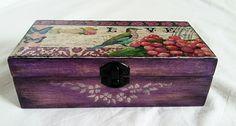 Music wooden box, Music box with birds, Music box lavender, Wooden box, Decorative music box, Gift box, Keepsake box, Jewerly box, Decopage, de tossart en Etsy