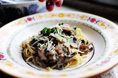 Bacon and mushroom cream sauce for pasta