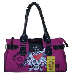 Ed Hardy pink bags from edhardyguide.com, via Flickr.