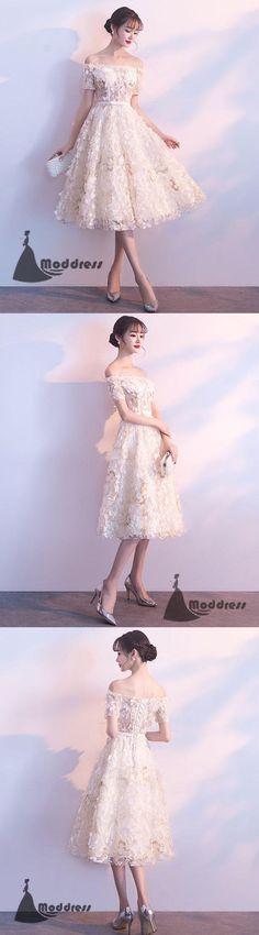 Unique Short Homecoming Dress Off the Shoulder Prom Dress Applique Formal Dress,HS512 #fashion#promdress#eveningdress#promgowns#cocktaildress