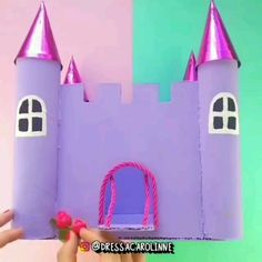 Toilet Paper Roll Crafts, Paper Crafts For Kids, Diy Arts And Crafts, Creative Crafts, Diy For Kids, Fun Crafts, Cardboard Castle, Cardboard Crafts, Castle Crafts