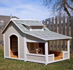 If i could spoil my dogs. I would make it insulated. Add an actual door, to lock in at night. And have built in food and water spots.