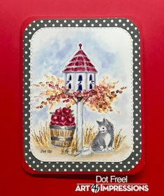 Watercolor Design, Watercolor Cards, Watercolour, Art Impressions Stamps, Some Cards, My Stamp, Homemade Cards, Card Making, Dots
