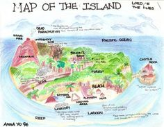 The Island from William Golding's Lord of the Flies, imagined by a student Anna Yu
