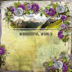 WONDERFUL WORLD - Template: Wanderlust #2 by Heartstrings Scrap Art  https://www.digitalscrapbookingstudio.com/personal-use/templates/wanderlust-2/ Kit: Wanderlust by The Urban Fairy  https://www.digitalscrapbookingstudio.com/personal-use/bundled-deals/wanderlust-bundle-en-4/