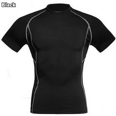 Men's Clothing Mens Compression Armour Base Layer Top Half Sleeve Thermal Gym Sports Shirt New Dependable Performance Activewear Tops