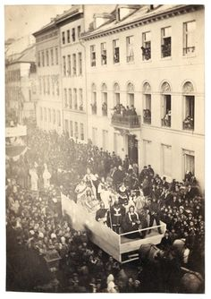 A carnival procession in the western city of Mainz, around 1860. #Germany