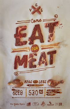 #promotion #Pinterest This might look a little gross because it's raw meat, but it's pretty creative.