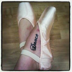 Alicia Heaney is one committed dancer! She accessorizes her Bloch Balance European shoes with a tattoo!