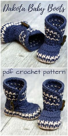 Baby Booties - O Sew Lovely - - Baby Booties Gorgeous Dakota Baby Boots crochet baby slipper pattern! Love this gorgeous design! A Nordic-inspired baby booties pattern!Baby Booties I've got babies and boots on my mind these days because it snowed h Booties Crochet, Crochet Slippers, Crochet Slipper Boots, Knit Slippers Pattern, Crochet Baby Blanket Beginner, Baby Knitting, Crochet Granny, Baby Converse, Shoe Pattern
