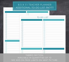 To-Do List Pages for Large Teacher Planner by PlumPaperDesigns