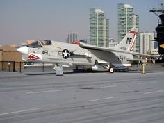 F8 Crusader on the USS Midway museum in San Diego.