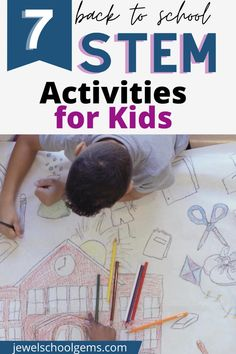 7 BRILLIANT BACK TO SCHOOL STEM ACTIVITIES FOR KIDS by Jewel's School Gems — In this blog post, I'm highlighting 7 easy STEM Challenges for Kids in the Elementary Classroom: All About Me, Back to School, and Team Building. Get to know students with a Time Capsule. Develop teamwork with a Marble Run, an Apple Tower, and a Bridge. Develop children's 4Cs with a school bus, a backpack, and a schoolhouse. These activities are perfect for the beginning of the year. Click to learn more.