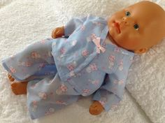 Dolls Clothes  Pyjamas to fit 36 to 38cm Baby Dolls, My First Baby Annabell £5.50