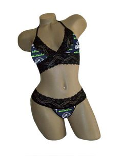 7297db65cf Sexy Seattle Seahawks NFL Lingerie Black Lace by JDCreationsCaLLC Football  Season