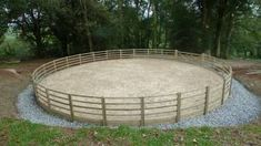 Wales round pen Paddock Trail, Horse Paddock, Horse Stables, Horse Farms, Dream Stables, Dream Barn, Round Pens For Horses, Horse Round Pen, Horse Pens