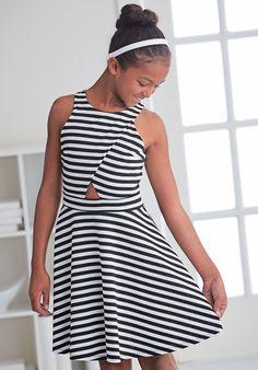 From CWDkids: Stripe Dress with Cutout